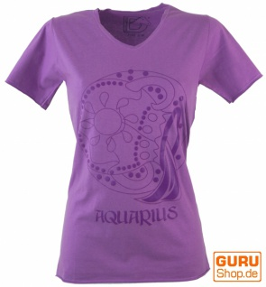 Sternzeichen T-Shirt `Wassermann` - lila