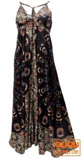 Sommerkleid, Maxikleid, Strandkleid, Hippiekleid im Peacook Style - schwarz