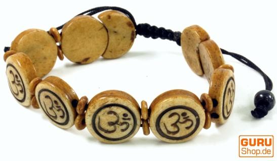 Buddhistisches Armband OM - braun Modell 9
