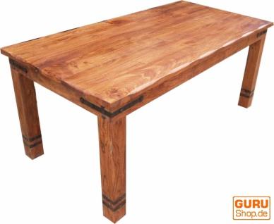 Esstisch mit runden Kanten & Beschlägen R509 hell