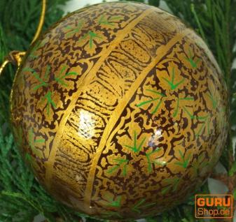 Upcyceling Weihnachtskugel aus Pappmachee, Handbemalter Christbaumschmuck, Kaschmirkugeln - Muster 4