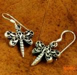 Silberohrringe Libelle