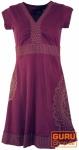 Minikleid, Boho Kleid Mandala Organic - bordeaux