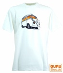 Fun T-Shirt `Bussi` - weiß