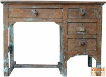 Antiker Schreibtisch mit 4 Schubfächern