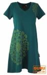 Minikleid Boho chic, Tunika mit Mandala Print - emerald