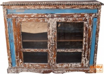 Glastür Kommode aus Recycel-Holz (JH0-012)