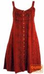 Besticktes indisches Kleid, Boho Miniklei, rot - Design 24