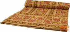 Blockdruck Tagesdecke, Bett & Sofaüberwurf, handgearbeiteter Wandbehang, Wandtuch - braun Ornament 13