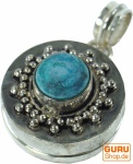 Amulett zum Öffnen, Goaschmuck Kettenanhänger, Medallion aus Messing