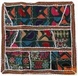 Patchwork Kissenhülle, Dekokissen Bezug aus Rajasthan, Einzelstück - Muster 11