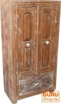 Kleiner antikweißer Schrank, Beistellschrank (JH0-35)