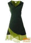 Wickeltunika, Elfentunika mit Zipfelkapuze MA 11 - grün