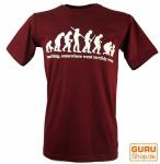 Fun T-Shirt `Evolution` - rot