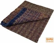 Quilt, Steppdecke, Tagesdecke Bettüberwurf, Besticktes Tuch, Indischer Bettüberwurf, Tagesdecke - Muster 15