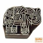 Holz Stempel, von Hand geschnitzt - Elefant 6