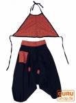 Kinder Pluderhose, Haremshose, Aladinhose mit passendem Top - schwarz