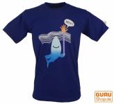 Fun T-Shirt `Help` - blau