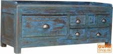 Antiker Beistelltisch, Ablagetisch mit fünf Schubfächern