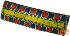 Haarspange Mosaik - gelb/bunt