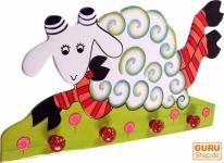 Bunte Kindergarderobe Wandhaken - Schaf 1
