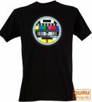 Fun T-Shirt `Testbild` - schwarz