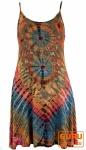 Batik Minikleid, Hippiekleid - rostorange