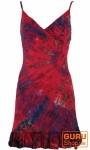 Batik Minikleid, Boho Bleistiftkleid - pink