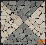 Mosaikfliese mit Quadraten aus Marmor (Mo-05) - Design 16