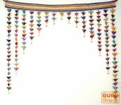 Toran, Türvorhang mit bunten Vögeln