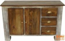 Kommode, Beistellschrank, Kommode, Fernsehschrank aus recyceltem Holz - Modell 1
