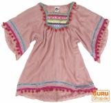 Poncho, Mädchenbluse, Boho Kinder Tunika, Kinderkleid - rosa