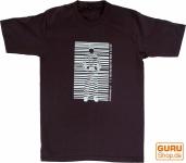 Fun T-Shirt `Barcode` - braun