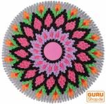 Runde upcycling Mandala Badmatte , Bodenmatte, Badvorleger - Motiv 12