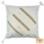 Ethno Kissenhülle, Landhaus Kissenbezug, Baumwolle weiß - Muster 1