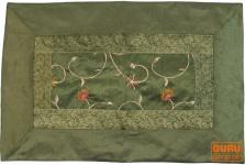 Brokatkissenhülle 70*45 cm - hennagrün