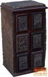 Schubfachschränkchen aus alten Blockdruckstempel (JH0-017)