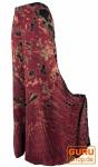 Farbenfroher Batik Hosenrock - bordeauxrot