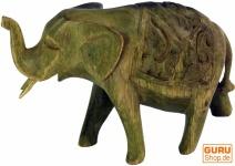 Kleine Deko Figur, Holzfigur Elefant - Modell 1