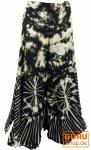 Farbenfroher Batik Hosenrock - schwarz