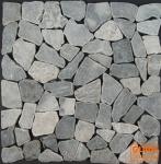 Mosaikfliesen aus grauem Marmor (S-03)