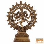Messingfigur, Statue Shiva im Feuerkranz 29 cm - Motiv 9