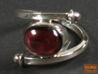 Silberring Granat