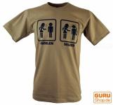 Fun T-Shirt `Problem solved` - beige