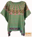 Kaftan, Ibiza-StyleTunika, Boho Bluse, Damen Maxibluse - mintgrün