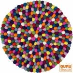 Runder Filzteppich, Bodenmatte aus kleinen Filz Kugeln - Ø 40 cm
