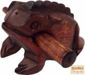 Klangfrosch, Musik Percussion Rhythmus Klang Instrumente, Holzspiel, Klangtier - braun 10 cm