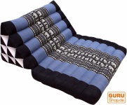 Thaikissen, Dreieckskissen, Kapok, Tagesbett mit 1 Auflage - schwarz/blau