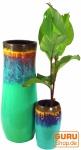 Vase, Übertopf, Pflanzgefäß aus Palmholz