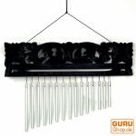 Indonesisches Aluminium Klangspiel, exotisches Windspiel mit Schnitzerei - Variante 9